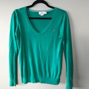 Vineyard Vines V-Neck Sweater Sea green